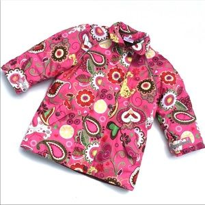 Hanna Andersson pink coat flower print size 100/4